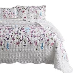 printed quilt coverlet set twin