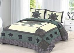 bear crossing quilt set