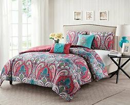 VCNY Home Full/Queen Size Comforter Set in Multicolor Bohemi
