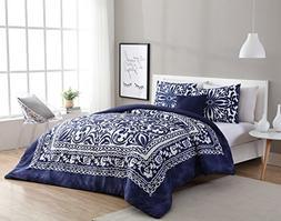 Full / Queen Comforter Set : Boho Chic Design , All Season L