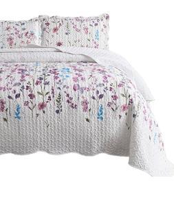 Bedsure Queen/Full  3 piece quilt set coverlet