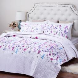 Bedsure Queen/Full Size 90x96 inches 3-Piece Quilt Set Cover