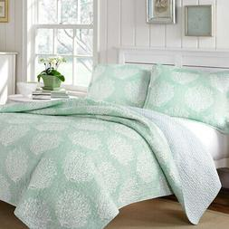 Quilt and Pillow Set Coral Coast 100% Cotton Fade Resistant,