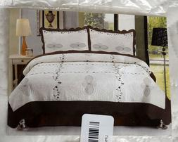 LAVISH HOME 2 Piece Quilt Athena Set Twin Size Bedding Cover