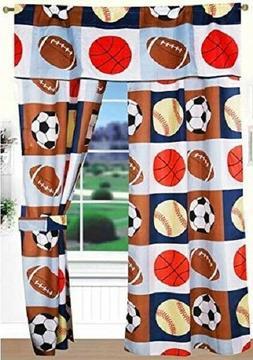 Quilt Bedspread Set Kids Sports Basketball Football Baseball