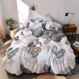 Quilt Cover Bed Sheet Pillowcase 4Pcs Luxury Bedding Set Cot