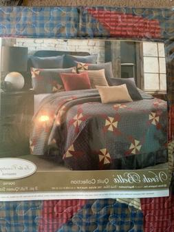 virah bella quilt In The Country Blue 3 Pc. Quilt Set