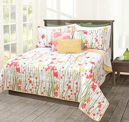 Safdie & Co. Quilt 3PC Set DQ Adalia, Full, Queen, Multi