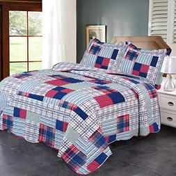 Jml Quilt Set King Size - Brushed Microfiber - 3 Pieces - So