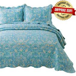 Bedsure Quilt Set King Size  - Classic Paisley Pattern -...