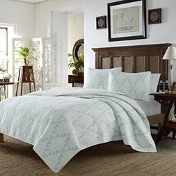 Tommy Bahama Quilt Set, Twin, Cape Plumbago