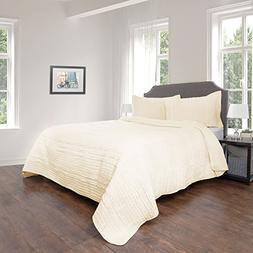 Lavish Home Quilt and Sham Set- Hypoallergenic 3 Piece Overs