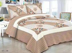 Quilted Comfort Bedspread Set Queen/King/Cal King 3 piece