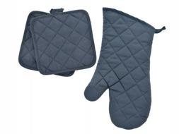 Home Collection- Quilted Kitchen Oven Mitts & Pot Holders, 3