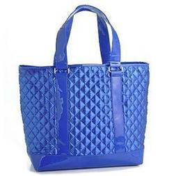 Perlina Quilted Satin Large Tote & Matching Clutch Purse Set