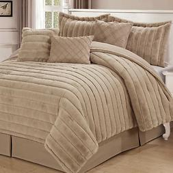 Home Soft Things Rabbit Faux Fur 7 Piece Comforter Sets