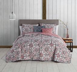 regan 5 piece quilt set queen spice