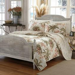 TOMMY BAHAMA Reversible 2 Piece Quilt Set BONNY COVE Tropica
