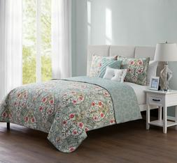 Reversible Bedding Quilt Set, Shams/Decorative Pillows by VC