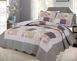 All for You 3-piece Reversible Bedspread/ Coverlet / Quilt S