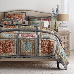 DaDa Bedding Collection Reversible Bohemian Real Patchwork G