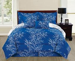 6 Piece Reversible Branches Comforter Set New Bedding