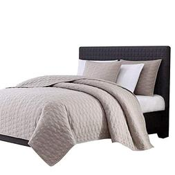 Bourina Reversible Quilt Coverlet Set Queen - Microfiber Lig