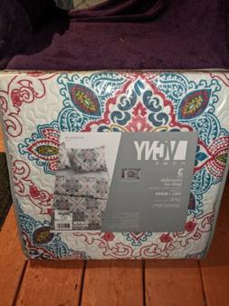 VCNY home reversible quilt set 3-piece