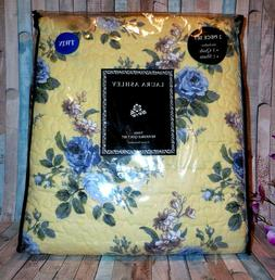 LAURA ASHLEY Reversible QUILT SET ~ LINLEY YELLOW ~ COTTAGE