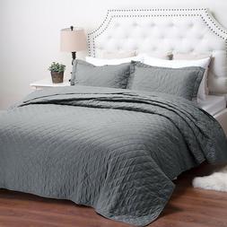 Bedsure Quilt Set Lightweight Hypoallergenic Coverlet Set So