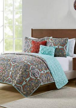 Textiles From Europe Reversible Yara Quilt Set - Multi - Siz