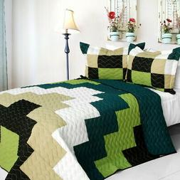 rising girl vermicelli quilted patchwork geometric quilt