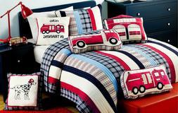 Ronnie Cars Reversible Cotton Quilt Set, Bedspread, Coverlet