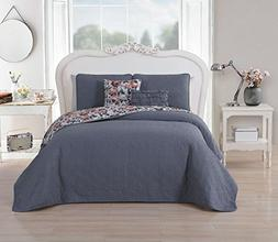 Avondale Manor Rosemary 5-Piece Quilt Set, Queen, Gray