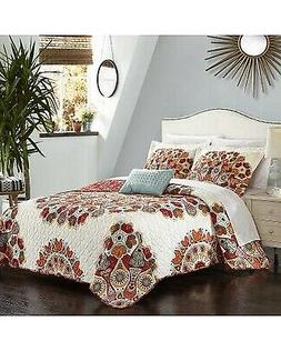 Chic Home 4 Piece Rouen Large Scale Paisley Bohemian REVERSI