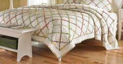 Laura Ashley Ruffled Garden Cotton Quilt, Full/Queen