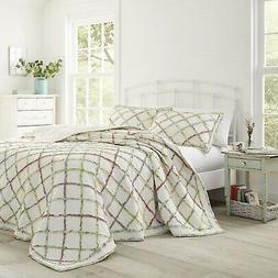 Laura Ashley Ruffled Garden Cotton Quilt Twin/Full/Queen/Kin