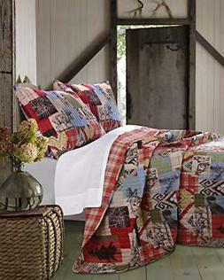 Rustic Lodge Quilt Set, Twin Quilt Set