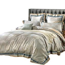 MKXI Sateen Bedding Duvet Cover Set European Luxury Style Zi