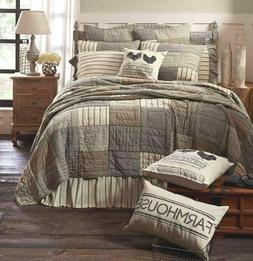 SAWYER MILL CHARCOAL QUILT -choose size & accessories-farmho