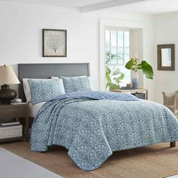 Tommy Bahama Sea Sparkle Quilt & Shams Set 3 Pc Reversible B