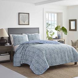 Tommy Bahama Sea Sparkle Quilt Set, Full/Queen, Medium Blue