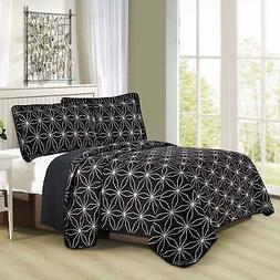 Home Soft Things Serenta 3 Piece Printed Microfiber Quilts C