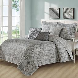 Home Soft Things Serenta 6 Piece Bellamy Printed Microfiber