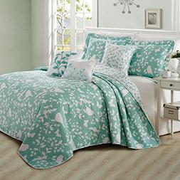 Home Soft Things Serenta 6 Piece Bird Song Printed Microfibe