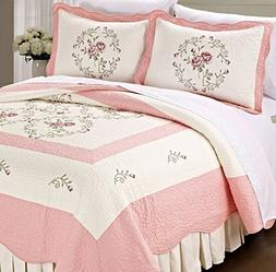 serenta classic embroidery prewashed roses