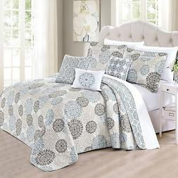 Serenta 6 Piece Marina Medallion Printed Quilted Bed Spread