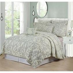 Serenta 7 Piece Printed Microfiber Bedspread Quilts Set, Que