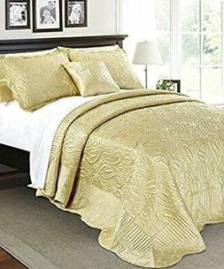 Home Soft Things Serenta Quilted Satin 4 Piece Bedspread Set