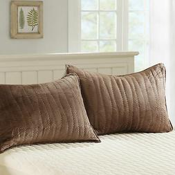 Home Soft Things Serenta Soft Micro Plush Quilted Pillow Sha